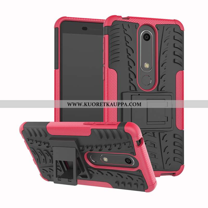 Kuori Nokia 6.1, Kuoret Nokia 6.1, Kotelo Nokia 6.1 Silikoni Suojaus 2020 Tuki Pinkki