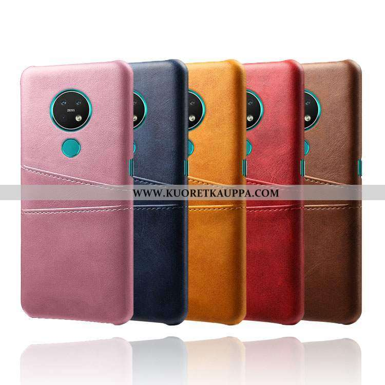 Kuori Nokia 6.2, Kuoret Nokia 6.2, Kotelo Nokia 6.2 Nahka Kukkakuvio Jauhe Pieni Pinkki