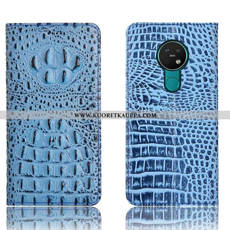 Kuori Nokia 6.2, Kuoret Nokia 6.2, Kotelo Nokia 6.2 Nahkakuori Suojaus All Inclusive Puhelimen Sinin