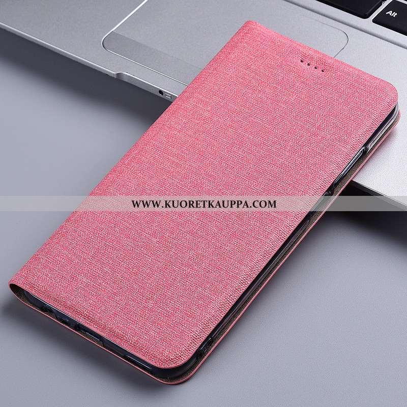 Kuori Nokia 6.2, Kuoret Nokia 6.2, Kotelo Nokia 6.2 Pellava Nahkakuori Murtumaton All Inclusive Pink