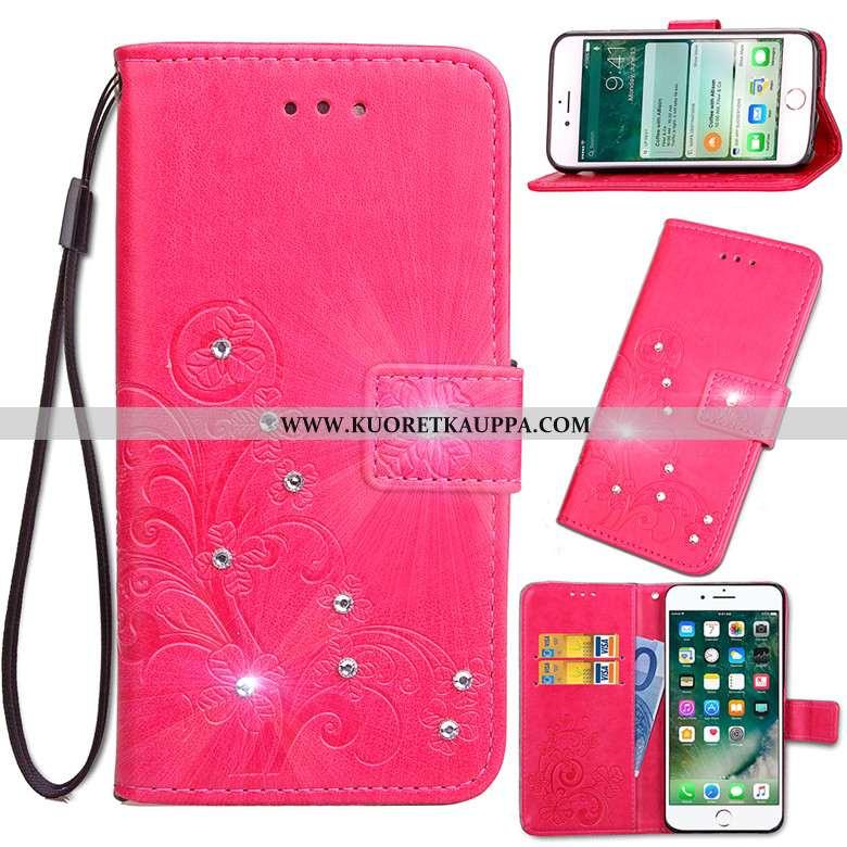 Kuori Nokia 6.2, Kuoret Nokia 6.2, Kotelo Nokia 6.2 Suojaus Nahkakuori Punainen Simpukka