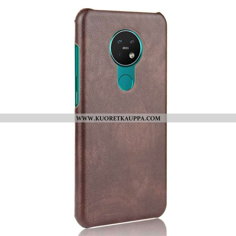 Kuori Nokia 6.2, Kuoret Nokia 6.2, Kotelo Nokia 6.2 Valo Suojaus Kova Puhelimen Pesty Suede Ruskea