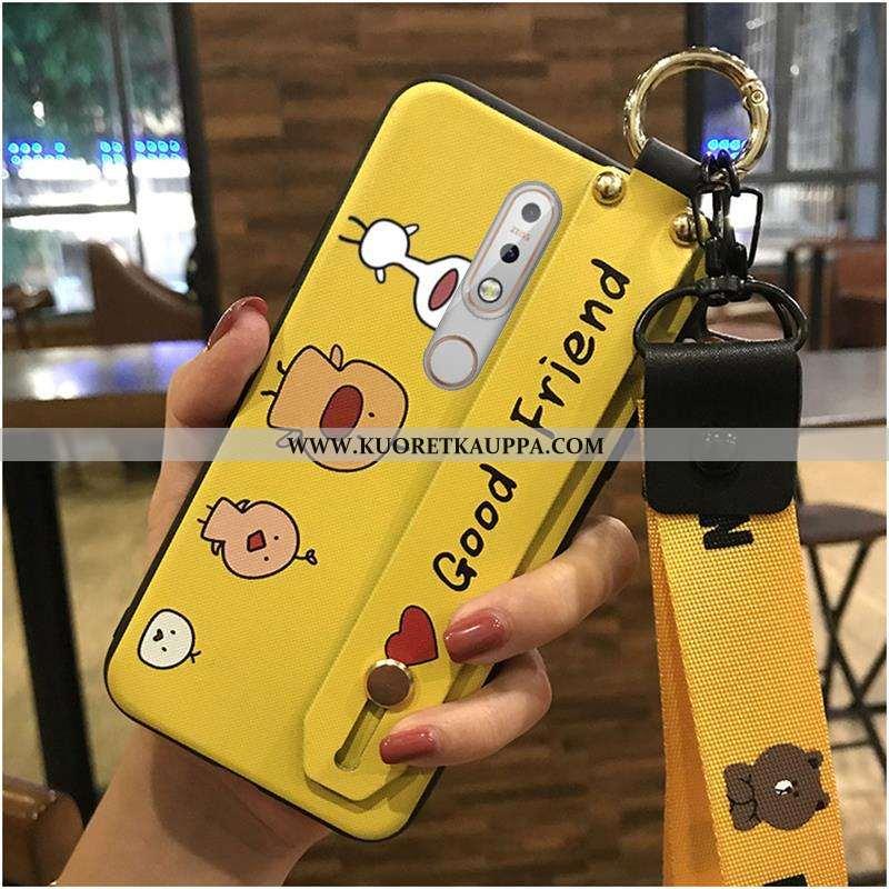 Kuori Nokia 7.1, Kuoret Nokia 7.1, Kotelo Nokia 7.1 Ihana Suuntaus Tuki Puhelimen Keltainen Keltaise