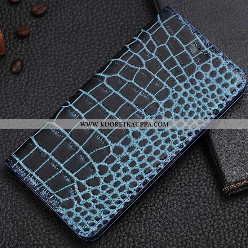 Kuori Nokia 7.1, Kuoret Nokia 7.1, Kotelo Nokia 7.1 Kukkakuvio Suojaus Aito Nahka Sininen