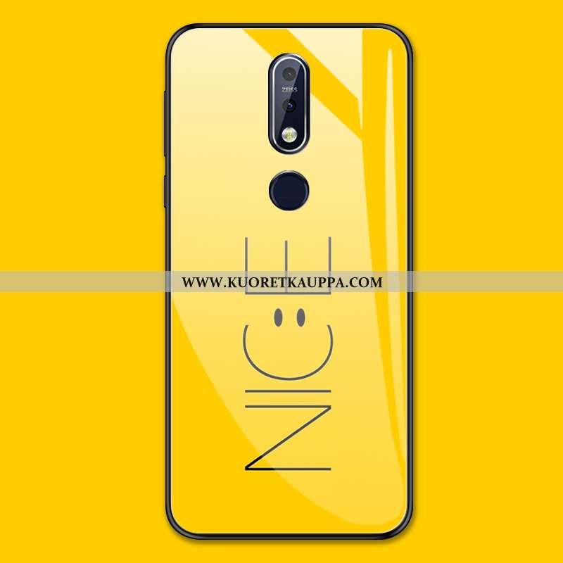 Kuori Nokia 7.1, Kuoret Nokia 7.1, Kotelo Nokia 7.1 Suuntaus Suojaus Yksinkertainen Keltainen Murtum