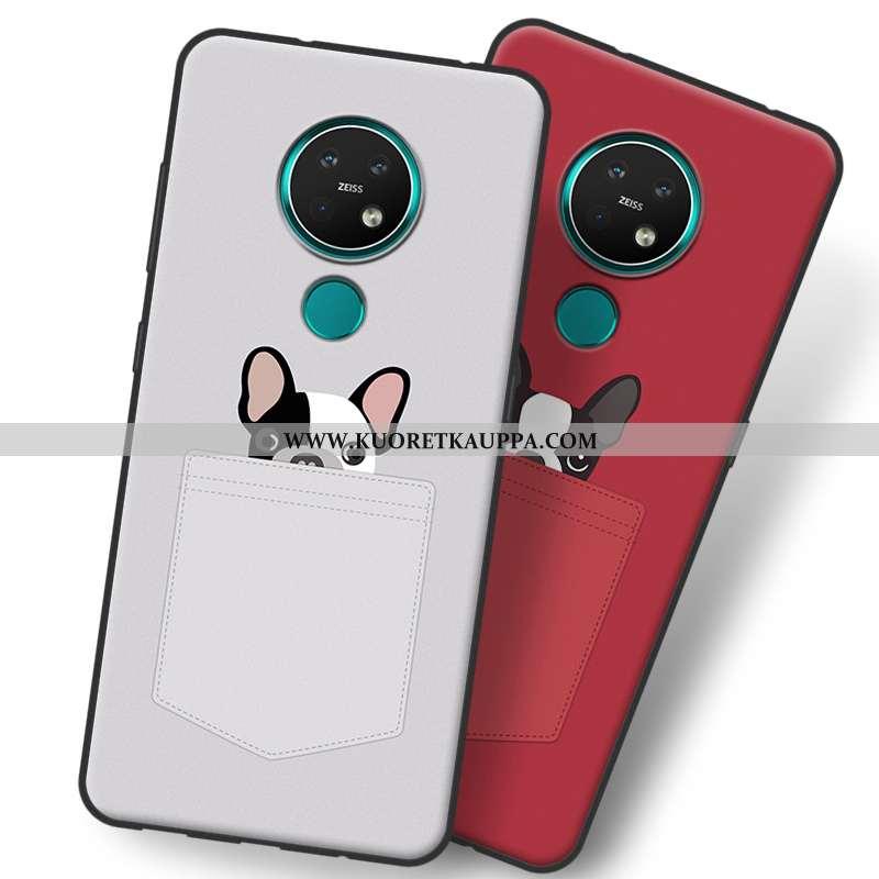 Kuori Nokia 7.2, Kuoret Nokia 7.2, Kotelo Nokia 7.2 Suojaus Pesty Suede Sarjakuva Harmaa