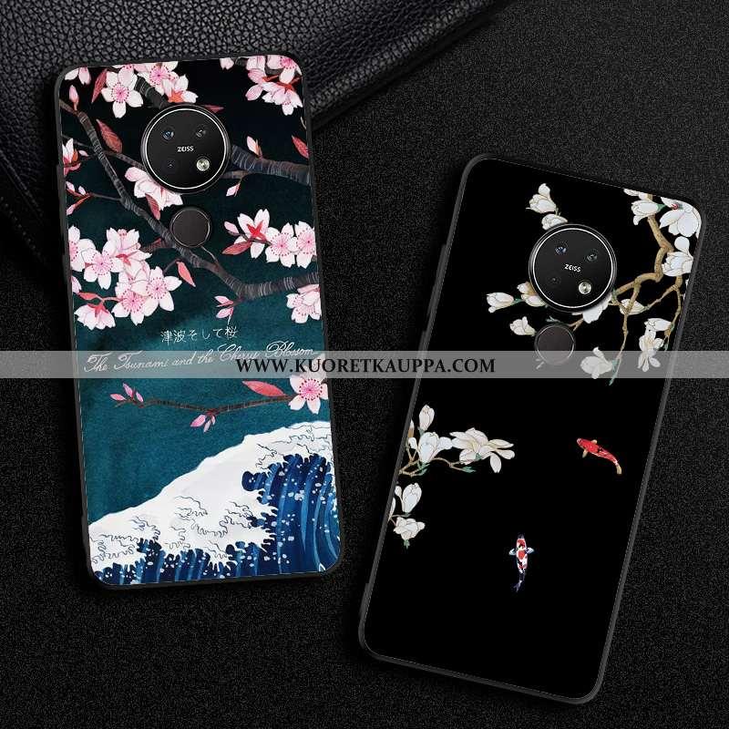 Kuori Nokia 7.2, Kuoret Nokia 7.2, Kotelo Nokia 7.2 Suojaus Tila Musta Yksinkertainen Mustat