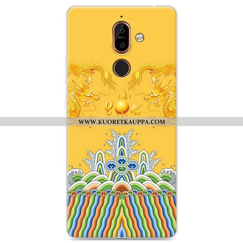 Kuori Nokia 7 Plus, Kuoret Nokia 7 Plus, Kotelo Nokia 7 Plus Luova Silikoni Rakastunut Suojaus Kelta