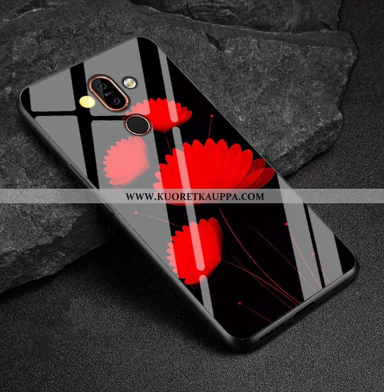 Kuori Nokia 7 Plus, Kuoret Nokia 7 Plus, Kotelo Nokia 7 Plus Sarjakuva Ihana Silikoni Musta Mustat