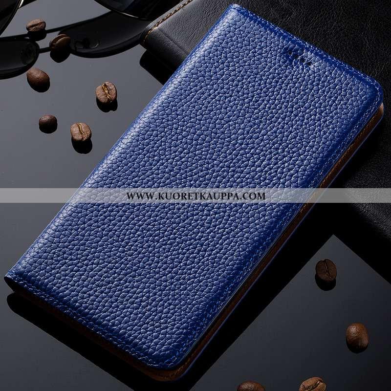 Kuori Nokia 8.1, Kuoret Nokia 8.1, Kotelo Nokia 8.1 Kukkakuvio Suojaus Aito Nahka Puhelimen Sininen