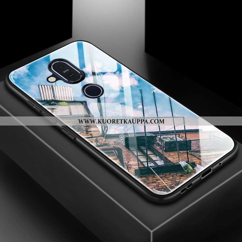 Kuori Nokia 8.1, Kuoret Nokia 8.1, Kotelo Nokia 8.1 Suojaus Lasi 2020 Muokata Sininen