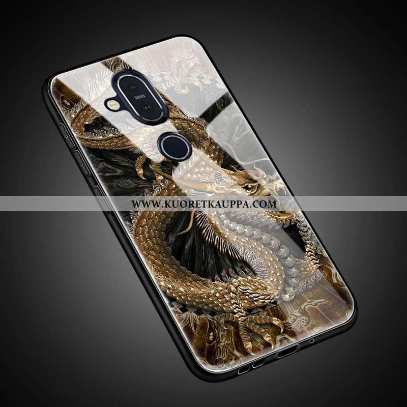 Kuori Nokia 8.1, Kuoret Nokia 8.1, Kotelo Nokia 8.1 Suojaus Lasi Suuntaus All Inclusive Ihana Kultai