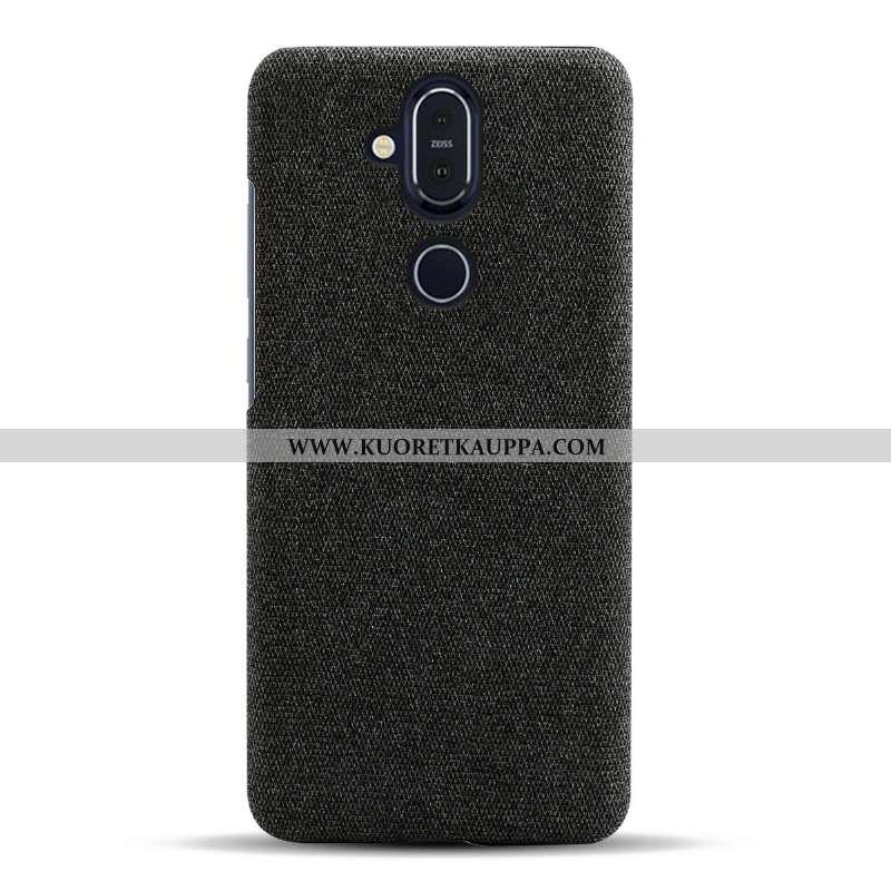 Kuori Nokia 8.1, Kuoret Nokia 8.1, Kotelo Nokia 8.1 Suojaus Valo Yksinkertainen Musta Mustat