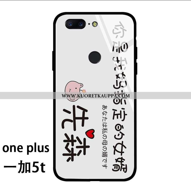 Kuori Oneplus 5t, Kuoret Oneplus 5t, Kotelo Oneplus 5t Lasi Persoonallisuus Näytönsuojus Net Red Sil