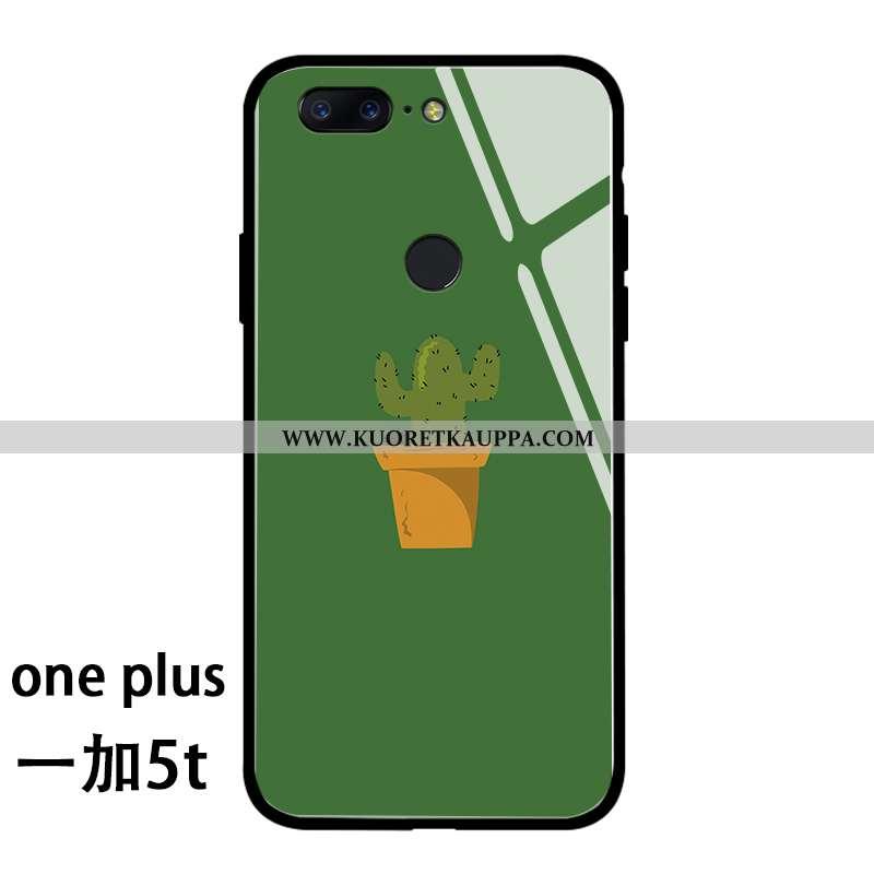 Kuori Oneplus 5t, Kuoret Oneplus 5t, Kotelo Oneplus 5t Persoonallisuus Luova Suojaus Net Red Vihreä