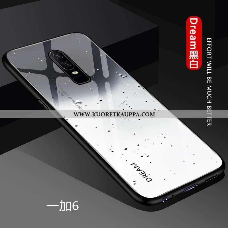 Kuori Oneplus 6, Kuoret Oneplus 6, Kotelo Oneplus 6 Suuntaus Ultra Valo Net Red Muokata Valkoinen
