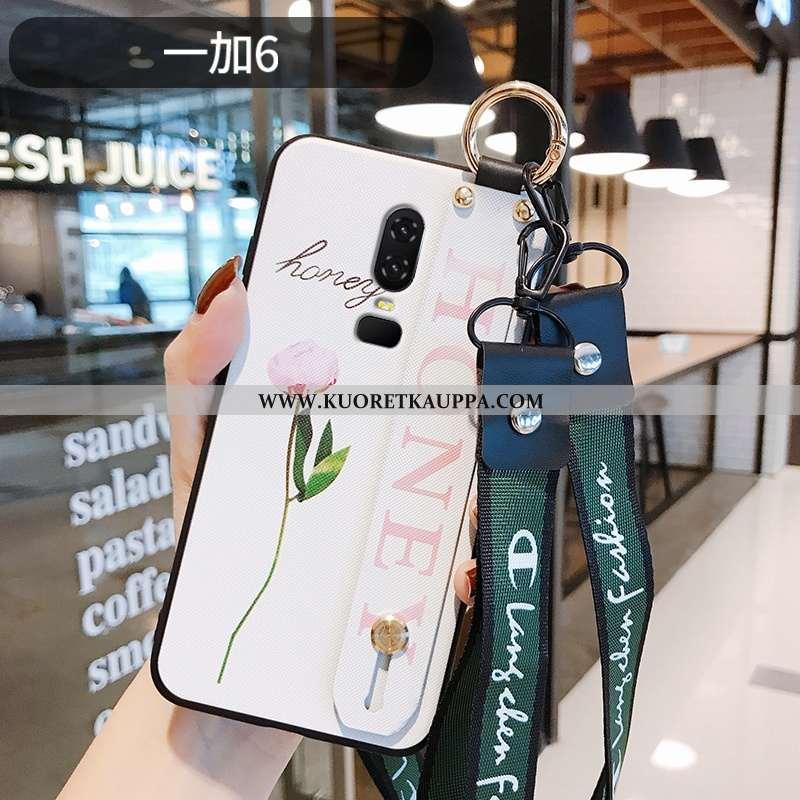 Kuori Oneplus 6, Kuoret Oneplus 6, Kotelo Oneplus 6 Valo Silikoni Kukka Kiinalainen Tyyli Valkoinen