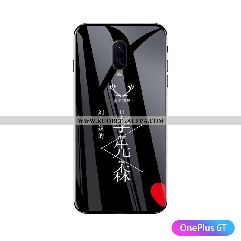 Kuori Oneplus 6t, Kuoret Oneplus 6t, Kotelo Oneplus 6t Persoonallisuus Ultra Net Red Valo Lasi Musta