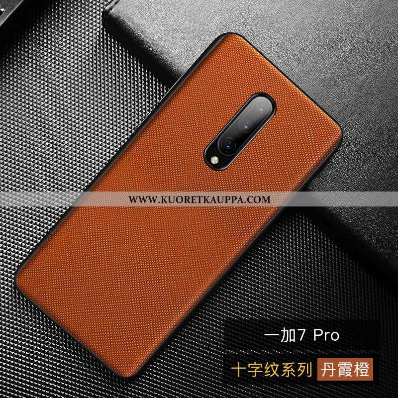 Kuori Oneplus 7 Pro, Kuoret Oneplus 7 Pro, Kotelo Oneplus 7 Pro Persoonallisuus Aito Nahka Suuntaus