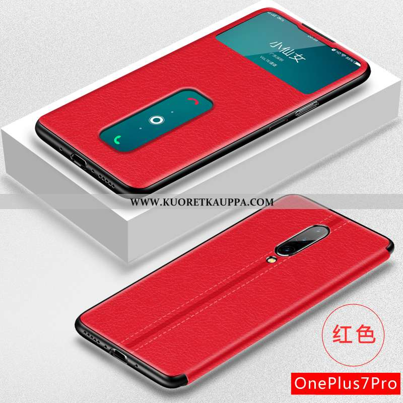 Kuori Oneplus 7 Pro, Kuoret Oneplus 7 Pro, Kotelo Oneplus 7 Pro Suojaus Nahkakuori Puhelimen Ultra P