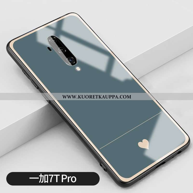 Kuori Oneplus 7t Pro, Kuoret Oneplus 7t Pro, Kotelo Oneplus 7t Pro Lasi Silikoni Sininen All Inclusi
