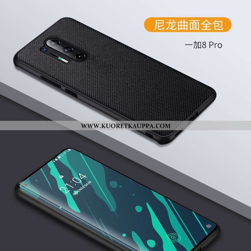 Kuori Oneplus 8 Pro, Kuoret Oneplus 8 Pro, Kotelo Oneplus 8 Pro Luova Nahka Suojaus Kukkakuvio Musta