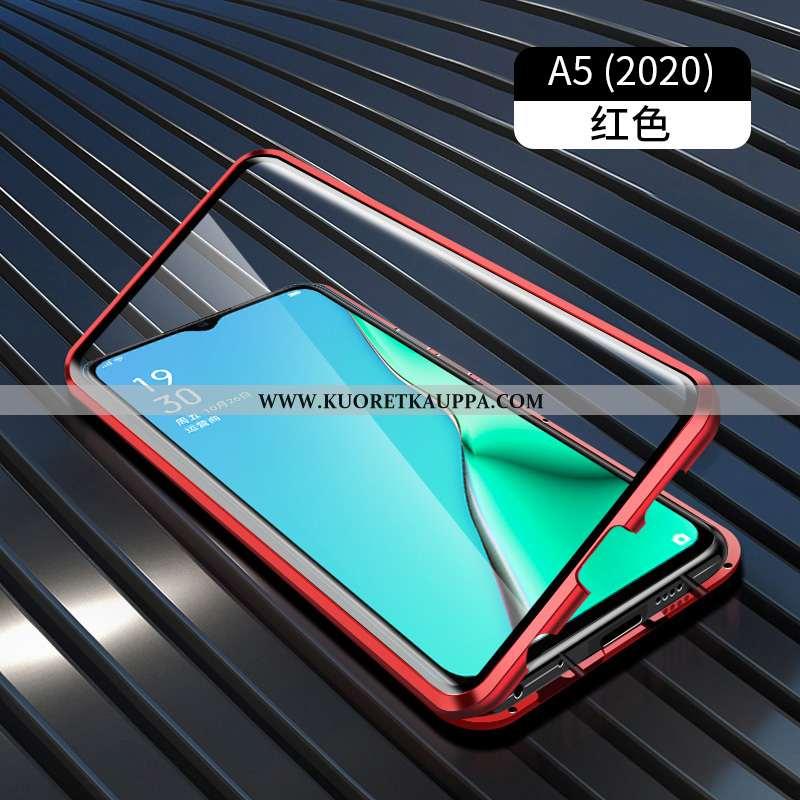 Kuori Oppo A5 2020, Kuoret Oppo A5 2020, Kotelo Oppo A5 2020 Metalli Suojaus Punainen Net Red