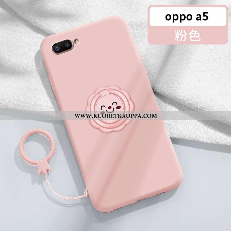 Kuori Oppo A5, Kuoret Oppo A5, Kotelo Oppo A5 Suojaus Persoonallisuus Silikoni Auto Murtumaton Pinkk