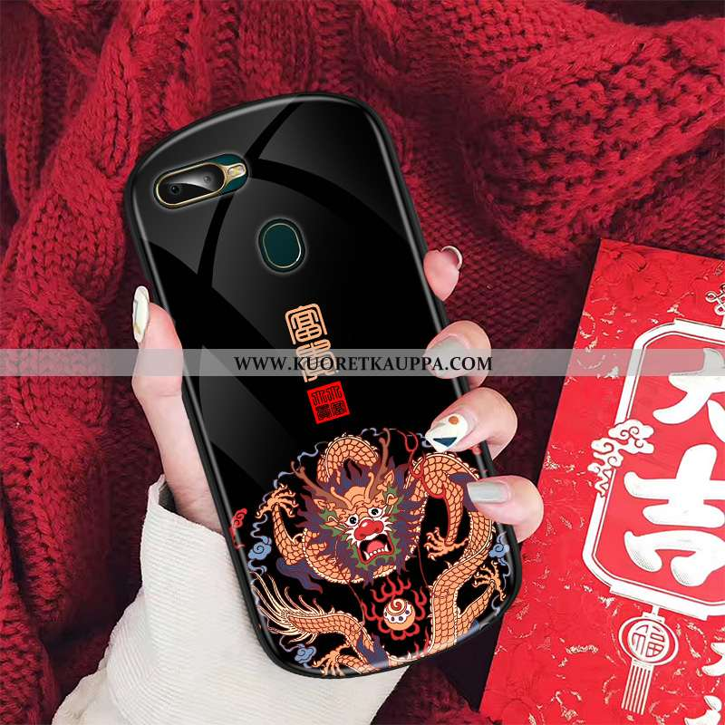 Kuori Oppo Ax7, Kuoret Oppo Ax7, Kotelo Oppo Ax7 Suuntaus Lasi Kiinalainen Tyyli Puhelimen Musta Mus