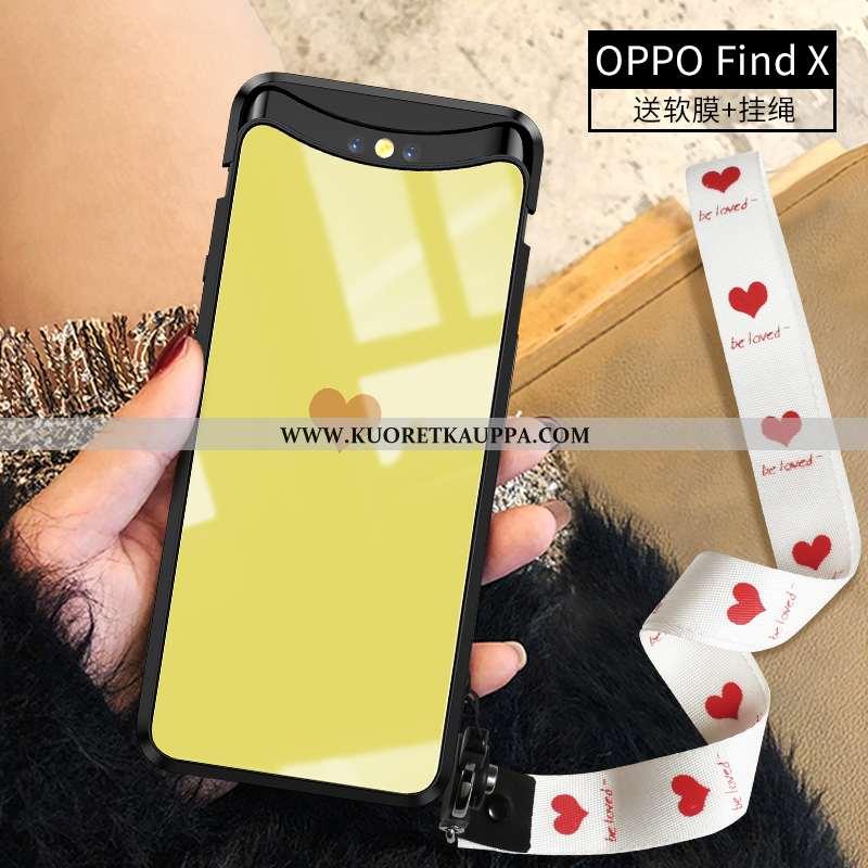 Kuori Oppo Find X, Kuoret Oppo Find X, Kotelo Oppo Find X Ultra Valo Keltainen Yksinkertainen Persoo