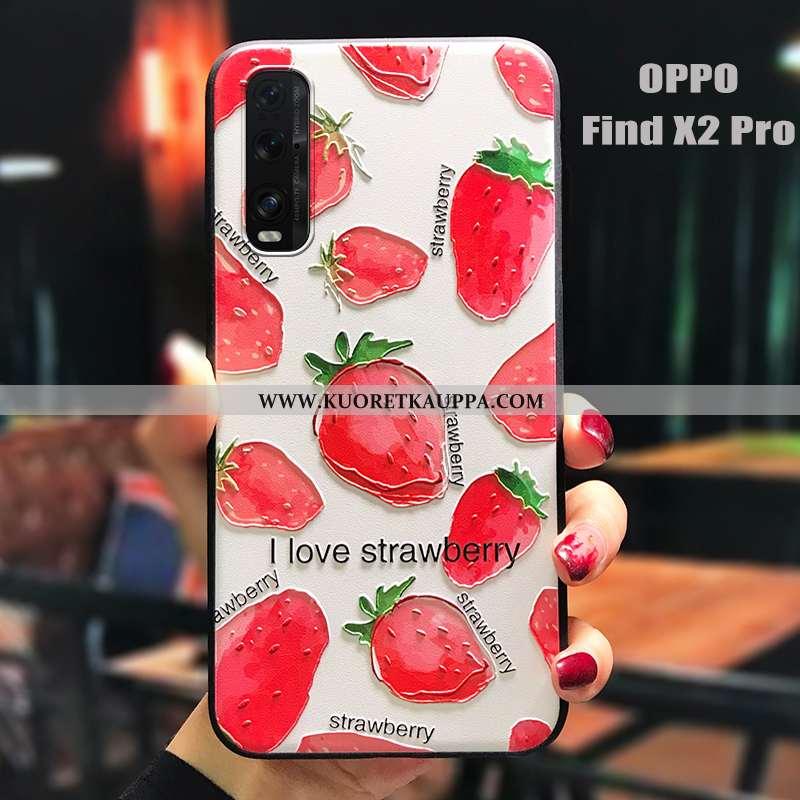 Kuori Oppo Find X2 Pro, Kuoret Oppo Find X2 Pro, Kotelo Oppo Find X2 Pro Pesty Suede Persoonallisuus