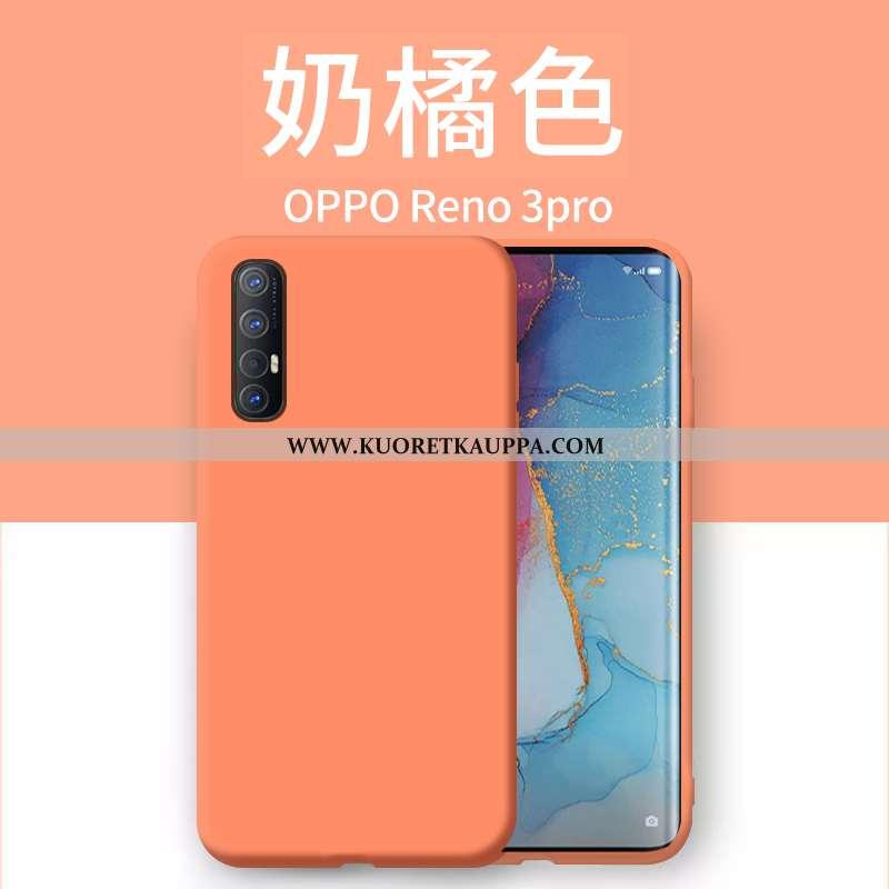 Kuori Oppo Reno 3 Pro, Kuoret Oppo Reno 3 Pro, Kotelo Oppo Reno 3 Pro Ultra Valo Oranssi Murtumaton