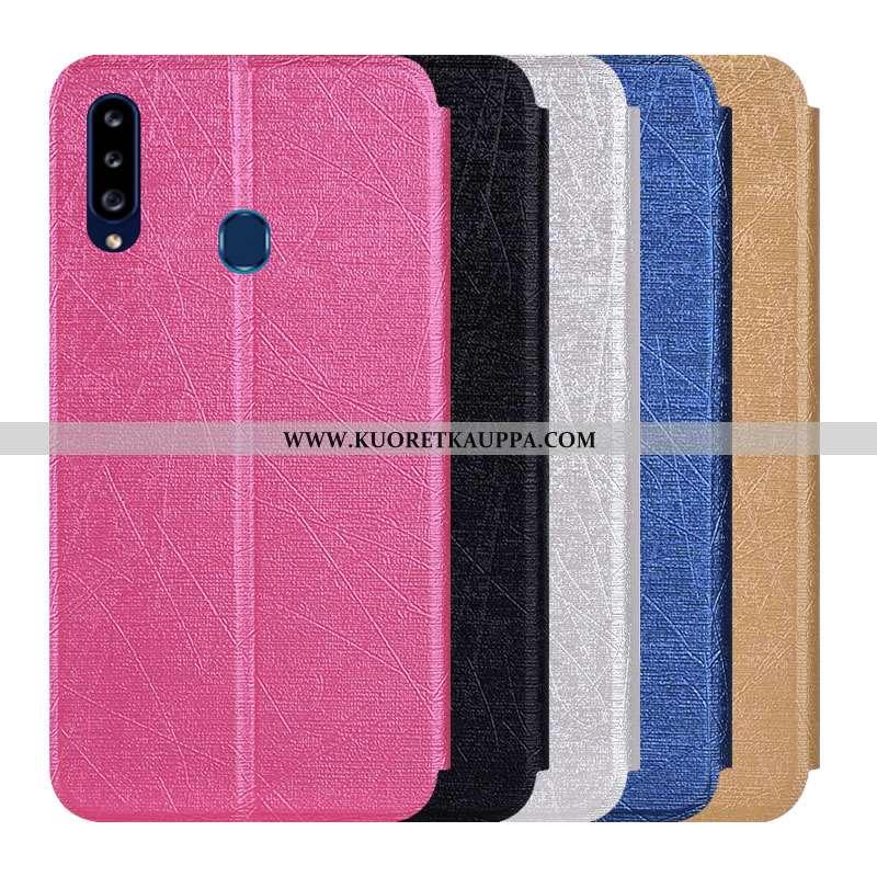 Kuori Samsung Galaxy A20s, Kuoret Samsung Galaxy A20s, Kotelo Samsung Galaxy A20s Nahkakuori Suojaus