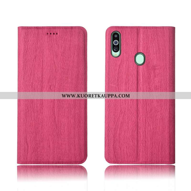 Kuori Samsung Galaxy A20s, Kuoret Samsung Galaxy A20s, Kotelo Samsung Galaxy A20s Pesty Suede Kukkak