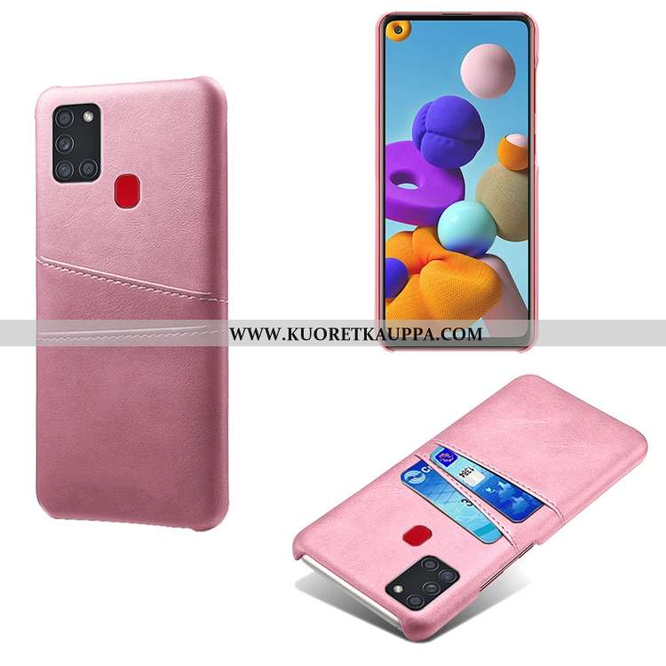 Kuori Samsung Galaxy A21s, Kuoret Samsung Galaxy A21s, Kotelo Samsung Galaxy A21s Nahka Kukkakuvio P