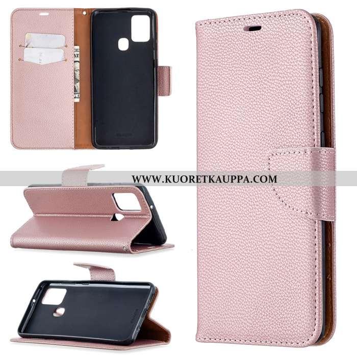 Kuori Samsung Galaxy A21s, Kuoret Samsung Galaxy A21s, Kotelo Samsung Galaxy A21s Nahkakuori Kukkaku