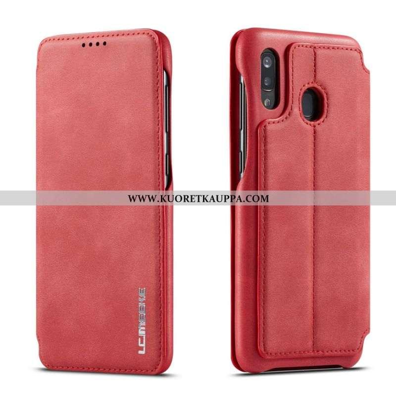Kuori Samsung Galaxy A40, Kuoret Samsung Galaxy A40, Kotelo Samsung Galaxy A40 Nahka Suuntaus Simpuk