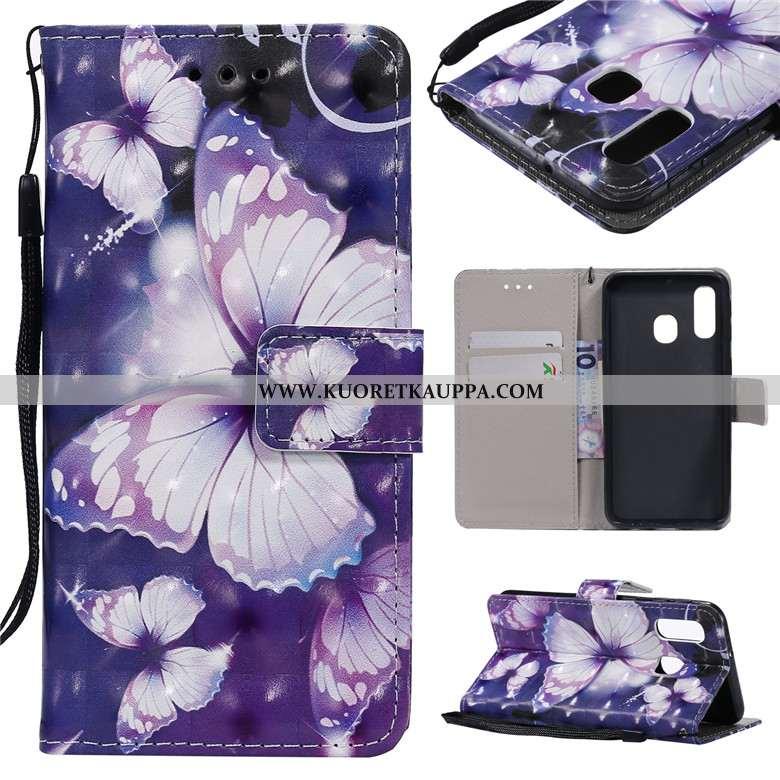 Kuori Samsung Galaxy A40s, Kuoret Samsung Galaxy A40s, Kotelo Samsung Galaxy A40s Suojaus Nahkakuori