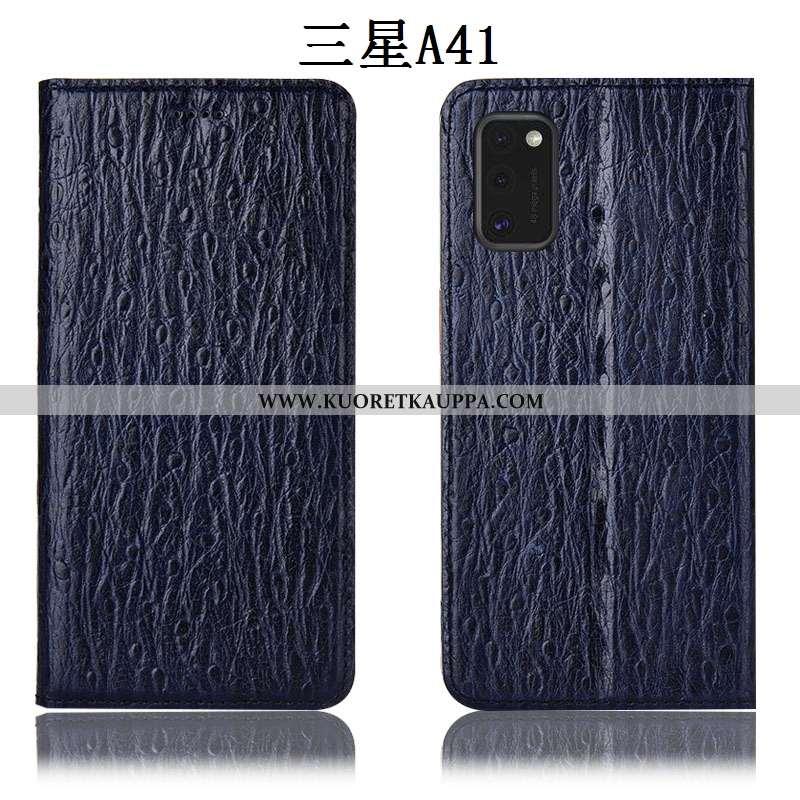 Kuori Samsung Galaxy A41, Kuoret Samsung Galaxy A41, Kotelo Samsung Galaxy A41 Nahkakuori Suojaus Mu