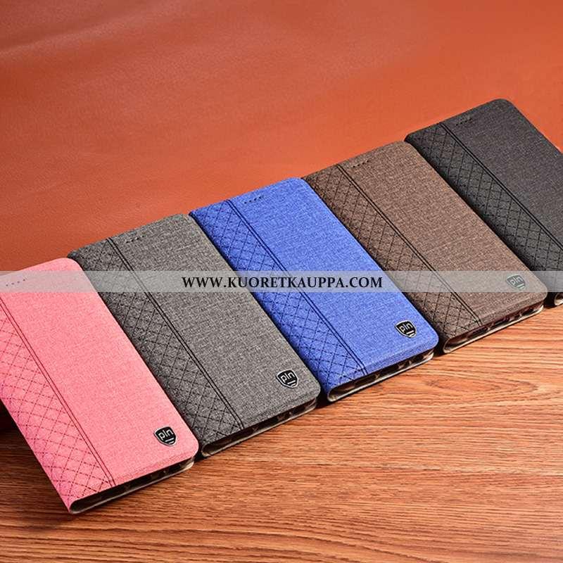 Kuori Samsung Galaxy A41, Kuoret Samsung Galaxy A41, Kotelo Samsung Galaxy A41 Pellava Nahkakuori Su