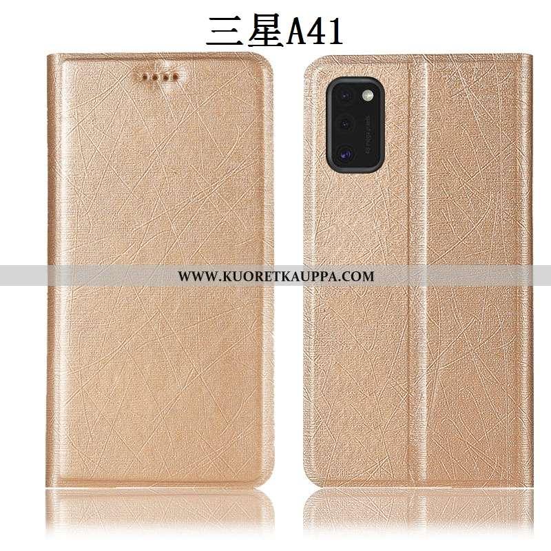 Kuori Samsung Galaxy A41, Kuoret Samsung Galaxy A41, Kotelo Samsung Galaxy A41 Suojaus Nahkakuori Jo