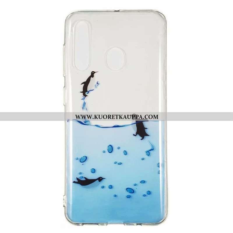 Kuori Samsung Galaxy A60, Kuoret Samsung Galaxy A60, Kotelo Samsung Galaxy A60 Läpinäkyvä Sarjakuva