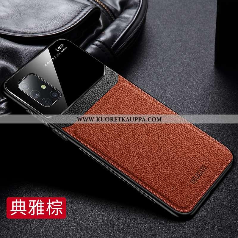 Kuori Samsung Galaxy A71, Kuoret Samsung Galaxy A71, Kotelo Samsung Galaxy A71 Kukkakuvio Nahka Liik