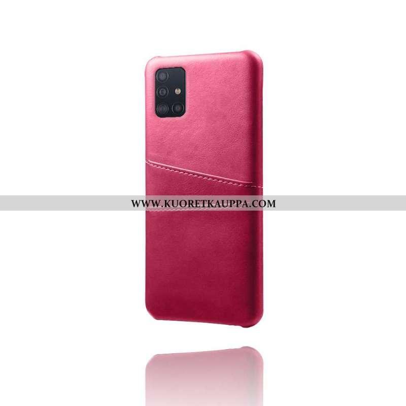 Kuori Samsung Galaxy A71, Kuoret Samsung Galaxy A71, Kotelo Samsung Galaxy A71 Suojaus Nahka Punaine