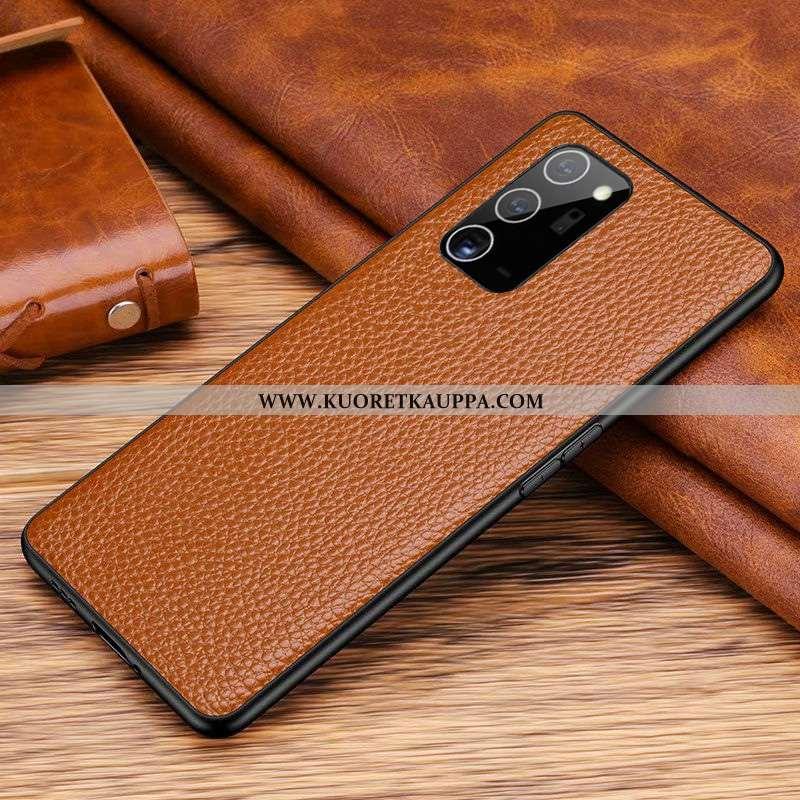 Kuori Samsung Galaxy Note20, Kuoret Samsung Galaxy Note20, Kotelo Samsung Galaxy Note20 Aito Nahka N