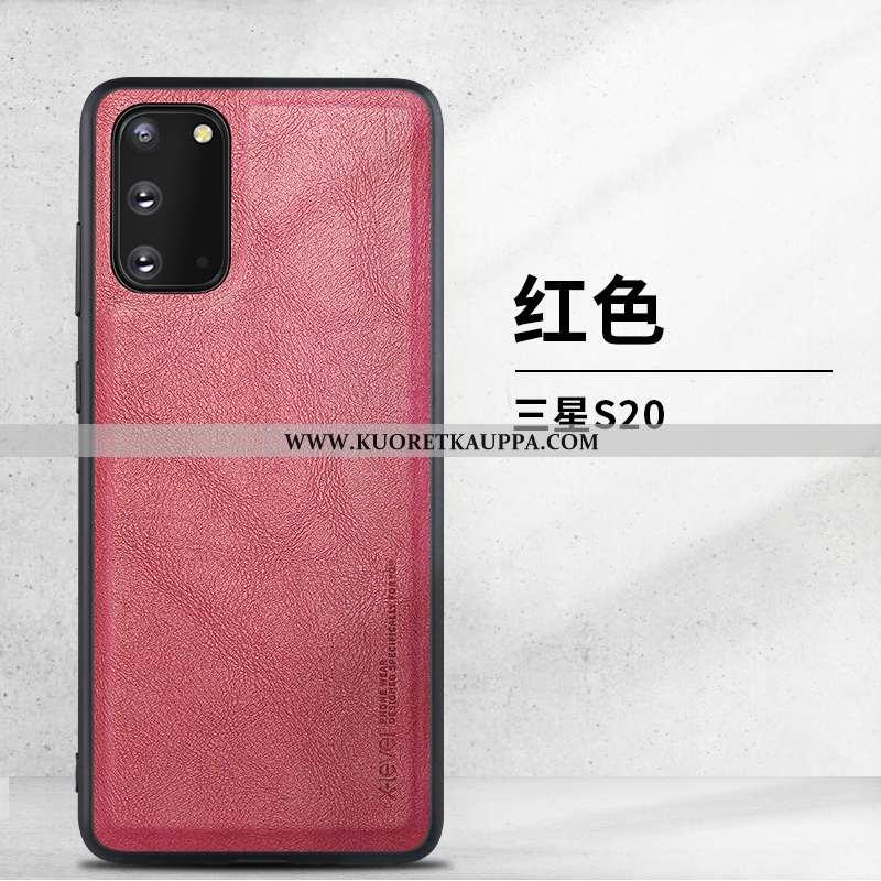 Kuori Samsung Galaxy S20, Kuoret Samsung Galaxy S20, Kotelo Samsung Galaxy S20 Nahka Suojaus Puhelim
