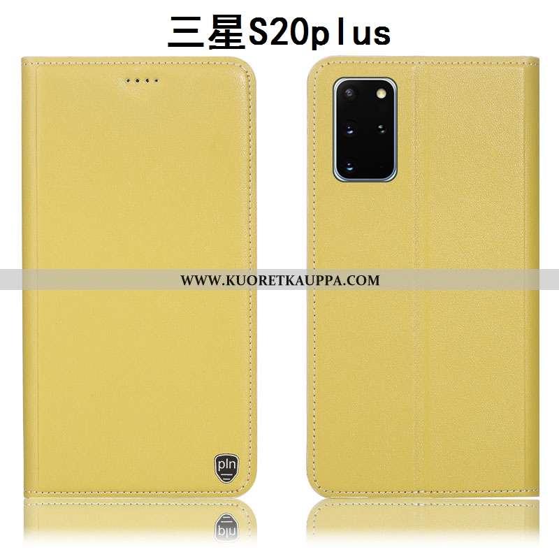 Kuori Samsung Galaxy S20+, Kuoret Samsung Galaxy S20+, Kotelo Samsung Galaxy S20+ Suojaus Aito Nahka