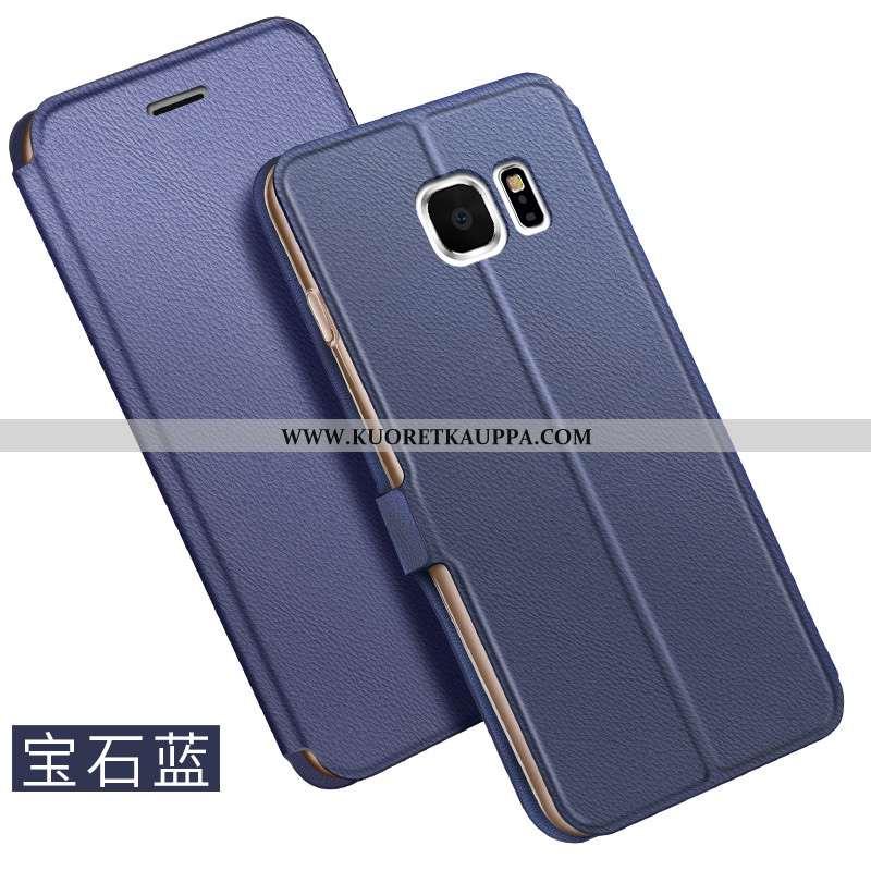 Kuori Samsung Galaxy S6, Kuoret Samsung Galaxy S6, Kotelo Samsung Galaxy S6 Nahkakuori Sininen Liike