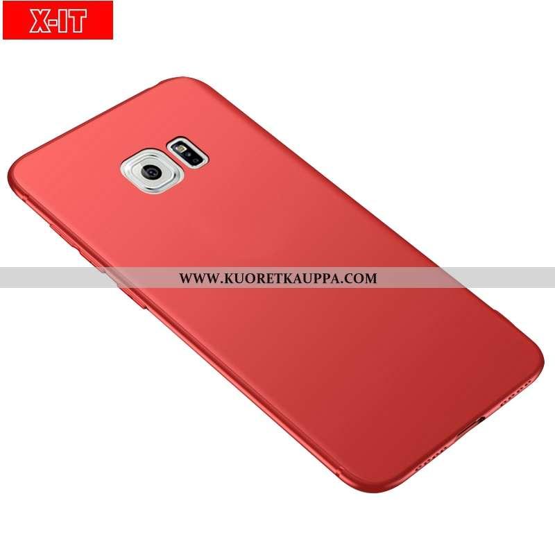 Kuori Samsung Galaxy S6, Kuoret Samsung Galaxy S6, Kotelo Samsung Galaxy S6 Suojaus Pesty Suede Puna