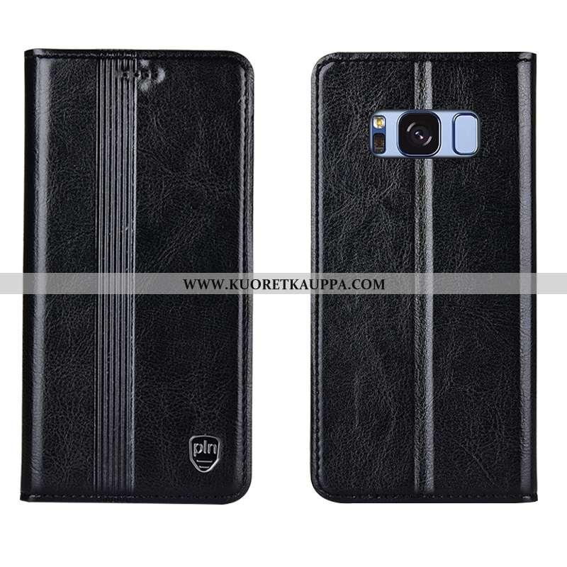 Kuori Samsung Galaxy S8+, Kuoret Samsung Galaxy S8+, Kotelo Samsung Galaxy S8+ Nahkakuori Aito Nahka